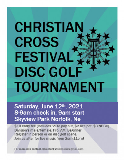Christian Cross Festival Disc Golf Tournament logo