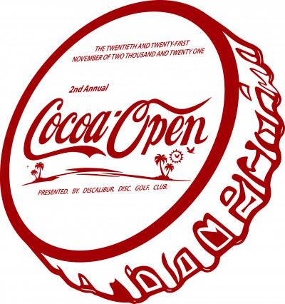 2021 Cocoa Open - Presented by Discalibur Disc Golf Club logo