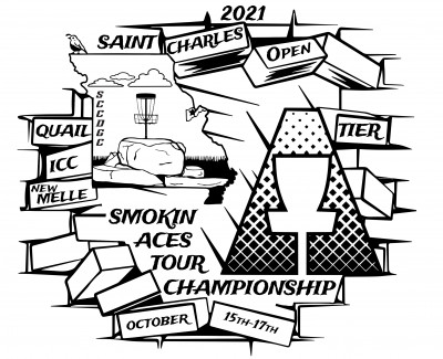 St. Charles Open presented by Smokin Aces & St Charles County Disc Golf Club logo