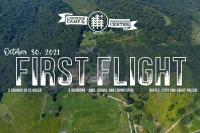 First Flight at Ligonier Camp logo