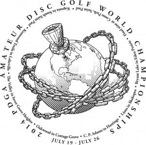 2014 PDGA Amateur Disc Golf World Championships logo