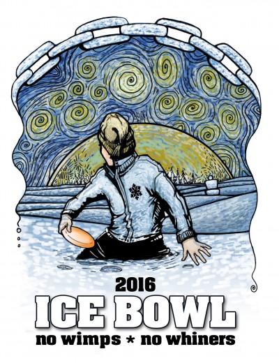 2016 PFDS Ice Bowl (PDGA C-Tier) Fundraiser logo