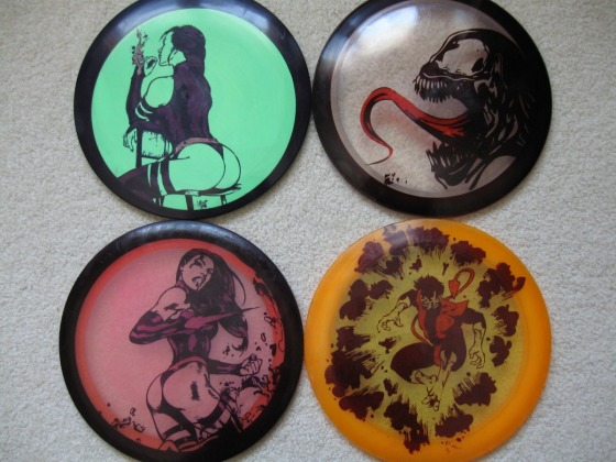 Painted Wood Disc
